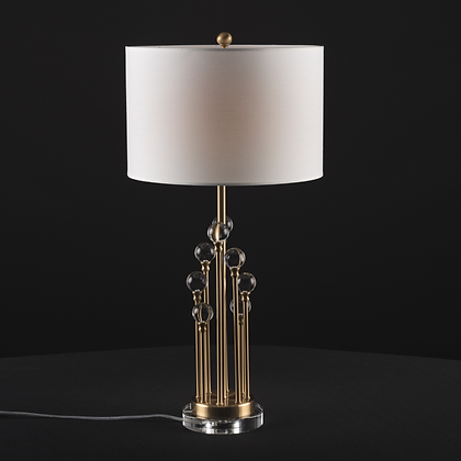 Crystal with Shade Table Lamp