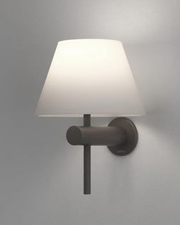 Matt black wall light