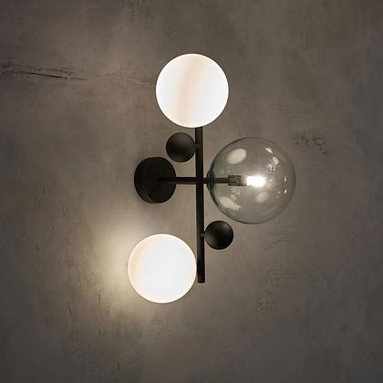 Tri-glass Wall Light