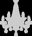 decorative chandelier or jhumar icon