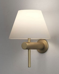 matt gold wall light