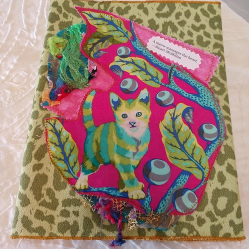 Pink/Green Kitty Journal Cover