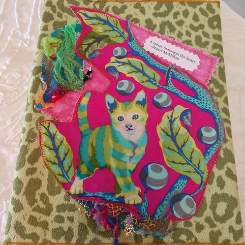 Green Kitty Journal Cover