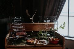 Harry Potter Styled Wedding - Welcome Sign and Drink Menu