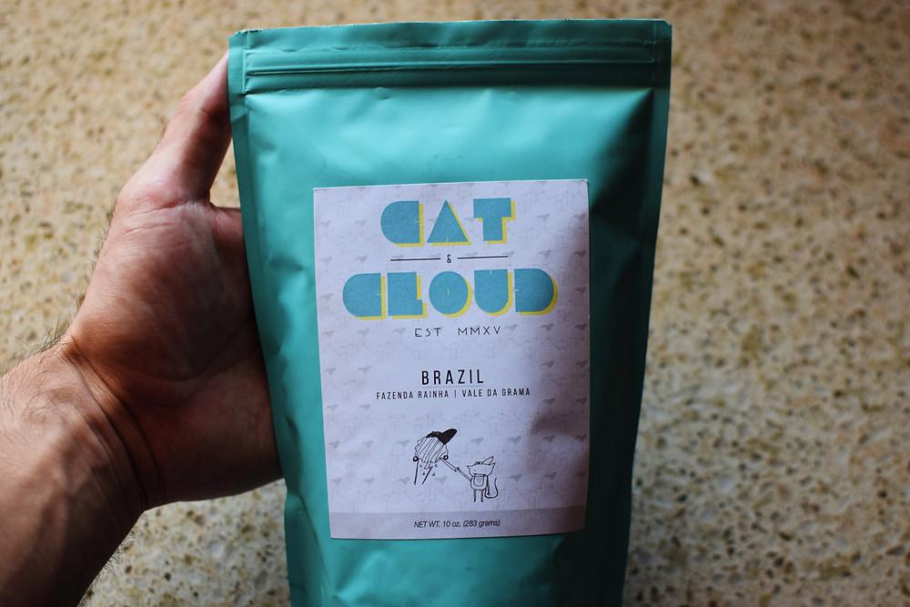 Cat & Cloud coffee bag