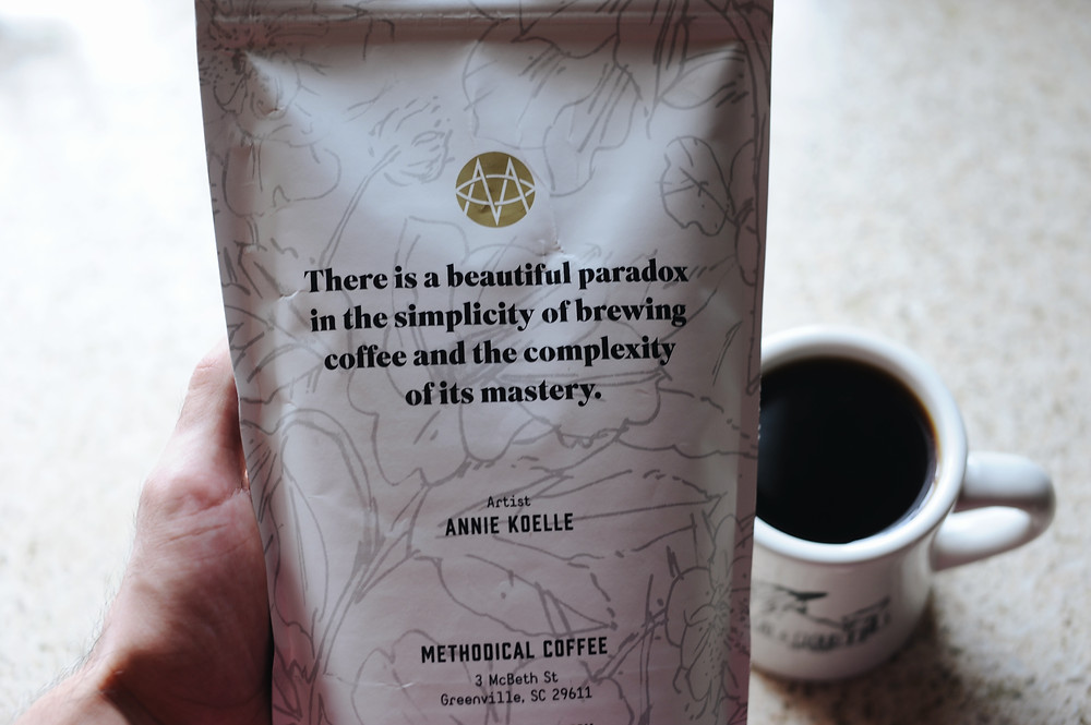 Back side of the Methodical Coffee bag