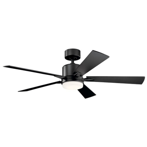 "Kichler 52"" Lighting Lucian Satin Black LED Ceiling Fan"