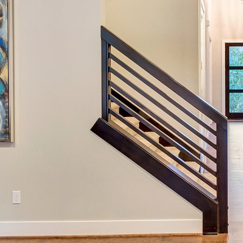 Wood Stained Stair Banister