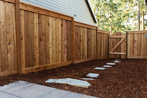 6' Solid Flat Top Fencing