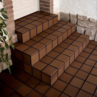Quarry tile steps