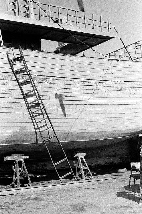 Escalier et bateau