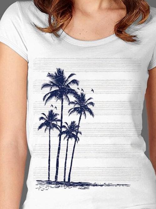 T-shirt Femme Luminol - Palm 1