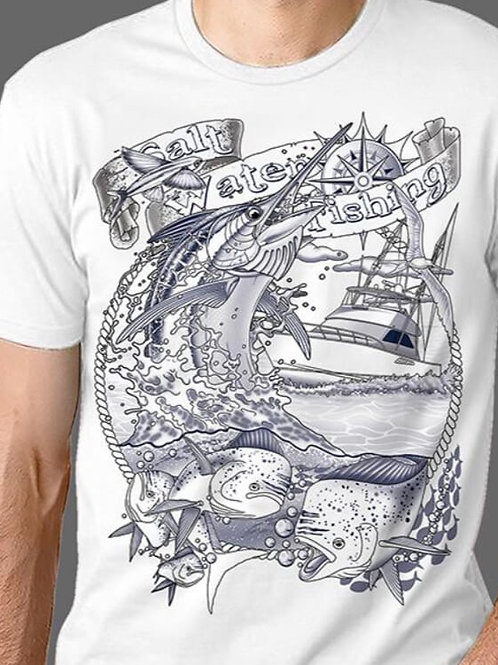 T-shirt Homme Luminol - Fishing 1