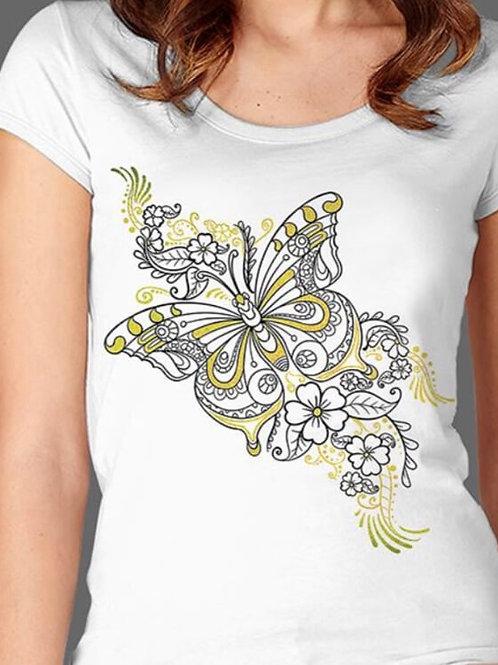 T-shirt Femme Luminol - Papillon 1