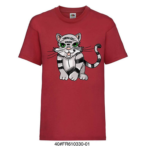 T-shirt enfant - Chaton - Rouge