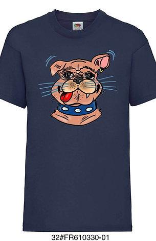 T-shirt enfant - Bouledogue (plusieurs coloris)