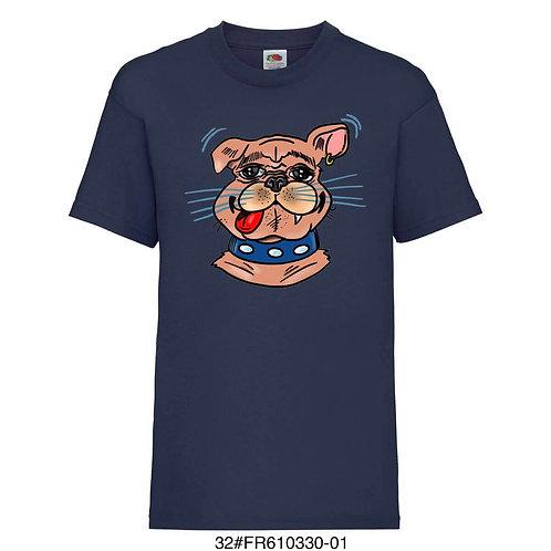 T-shirt enfant - Boulodogue - Marine