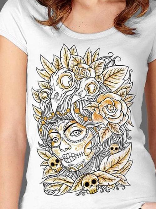 T-shirt Femme Luminol - Skull mexican 1