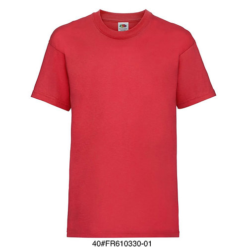 T-shirt enfant - Uni rouge