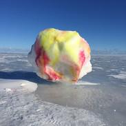 Snow Painting on the frozen Sea