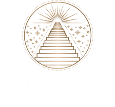 Stacked Logo - The DAWN (White).png