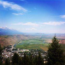 Hiking view above Jackson Hole, WY