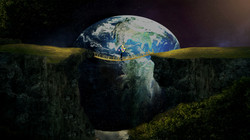 Photoshop project of earth