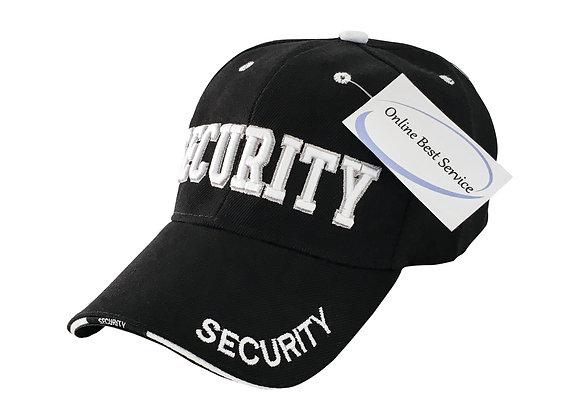 SECURITY HAT CAP UNIFORM HATS,(ONE SIZE) BLACK