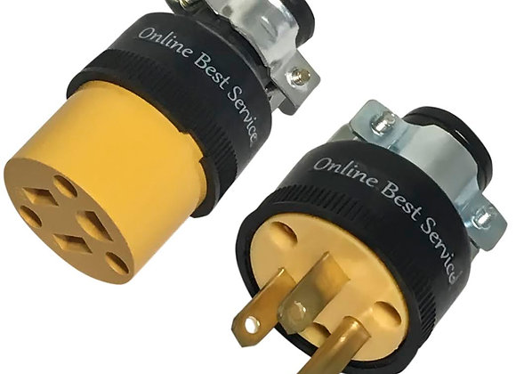 Male & Female Extension Cord Replacement Electrical Plugs 15AMP 125V End