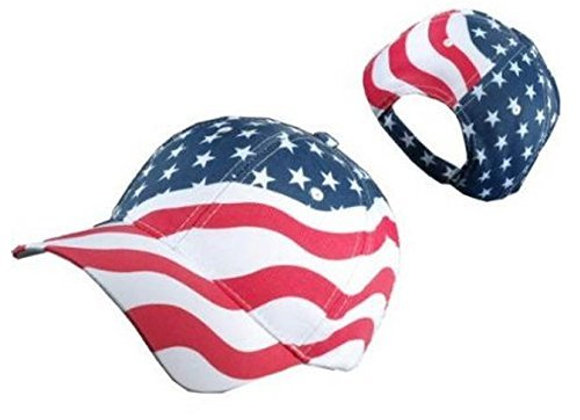 American Flag Patriotic Flag Baseball Cap/ Hat in Red, White and Navy Blue Stars
