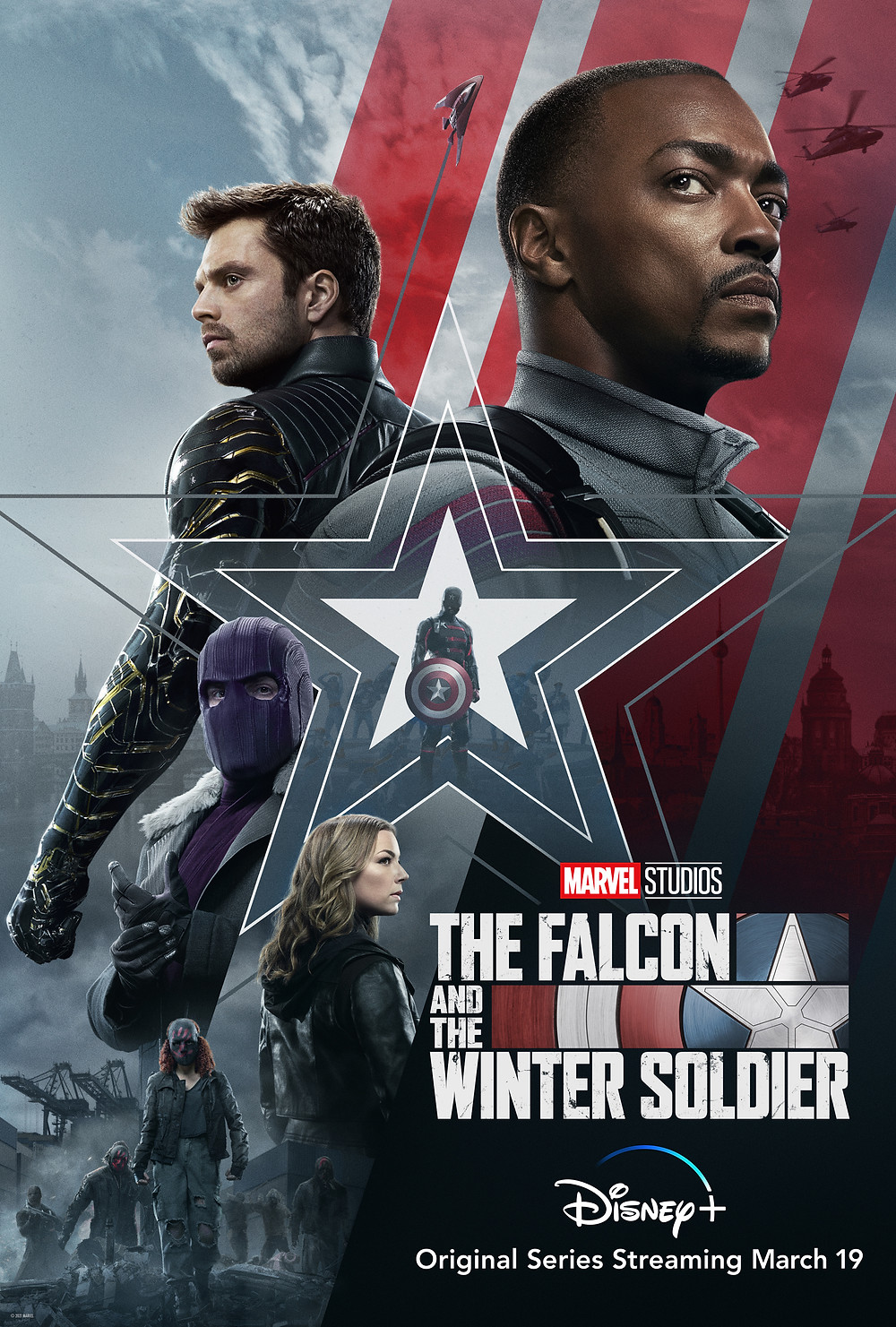 Marvel Studios' The Falcon and The Winter Soldier starring Anthony Mackie and Sebastian Stan exclusively on Disney+.