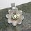 Thumbnail: Silver spinning peridot flower pendant