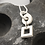 Thumbnail: Silver circle & square pendant