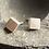 Thumbnail: Silver tiny square earrings