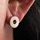 Thumbnail: Silver shapes and symbols circle earrings