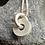 Thumbnail: Silver shapes and symbols circular pendant and chain