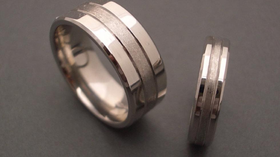 Platinum wedding bands 8mm heavy