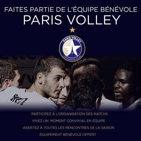 Rejoignez le Paris Volley en tant que bénévole