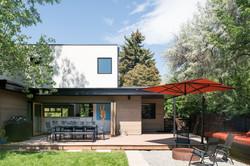 Modern house backyard