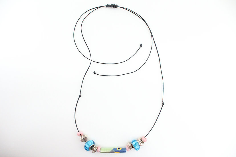 Hyacinth Macaw Necklace I