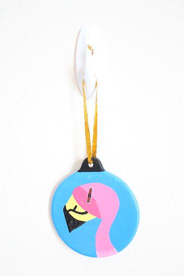 Puna Flamingo Ornament (Porcelain)