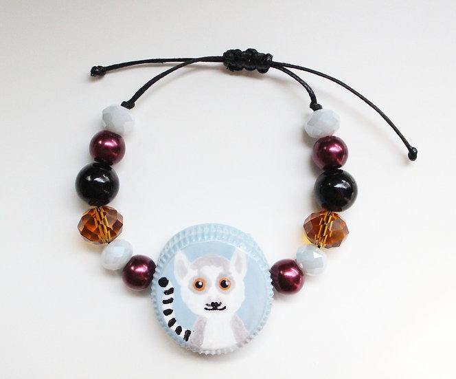 Ring-tailed Lemur Bracelet I