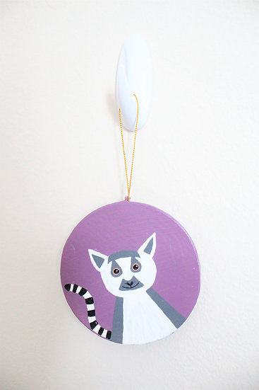 Ring-tailed Lemur Ornament (Paper Mache)
