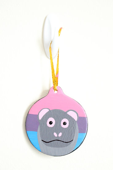 Nile Hippo Ornament (Porcelain)