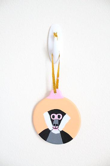 Black-handed Spider Monkey Ornament (Porcelain)
