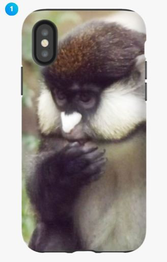 Red-tailed Monkey Apple Phone Case (Original)
