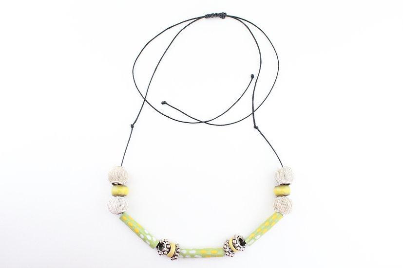 Emerald Tree Boa Print Necklace III