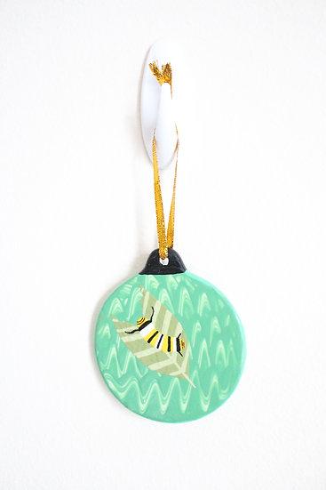 Monarch Caterpillar Ornament (Porcelain)