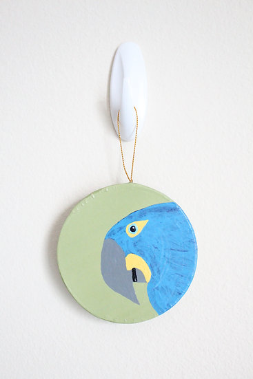 Hyacinth Macaw Ornament (Paper Mache)