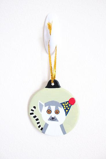 Ring-tailed Lemur Ornament (Porcelain)